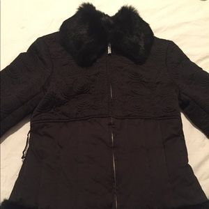 Bebe down filled Jacket and rabbit fur lining